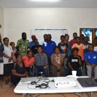 Group Photo: MHMS Staff and training participants and representatives of various groups of people living with disabilities during the training this week in Honiara.
