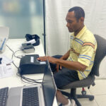 Solomon Islands national, Mr Morgan Ragaruma, recording personal details for a new passport.
