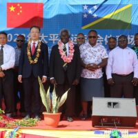 PM Sogavare and Ambassador Li Ming with Cabinet Ministers at the ground breaking ceremony