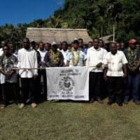 A group photo during the by-law launching at Rove community in Central Province