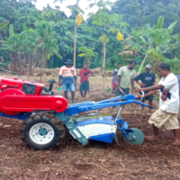 Field demonstration after the official handing over of the machines at Maepua Model farm site.